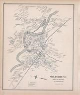 Milford Town, New Hampshire State Atlas 1892 Uncolored